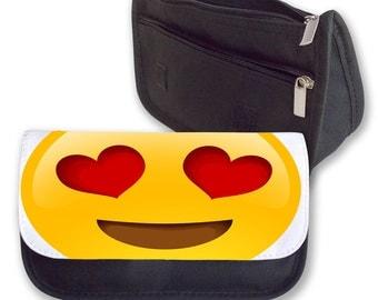 Heart eye Emoji Pencil case/ make up bag