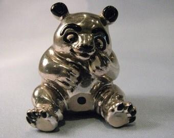 Panda-925/1000 silver statuette