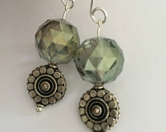 Handmade Crystal Bead Earrings