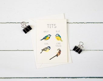 Tits greetings card