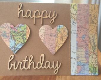 Travel inspired Happy Birthday Greeting card