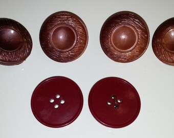 Vintage Red/Burgundy Buttons