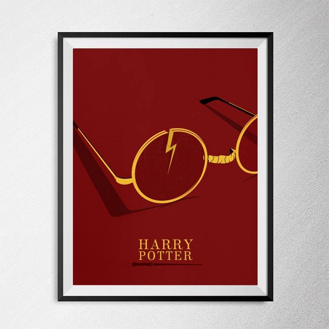 Harry Potter Print Illustration Minimal Film Poster