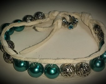Silver and Teal