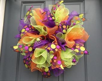 Halloween wreath or Halloween centerpiece.