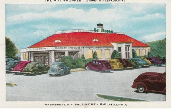The Hot Shppes - Drive-In Restaurant, - Washington, Baltimore, Philadelphia