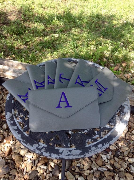 Monogram Envelope Clutch ~ perfect Bridesmaid Clutch ~