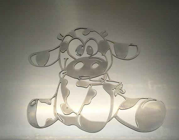 Metal Wall Decor Animals : Large cow farm animals country metal wall art decoration