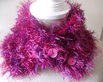 """Button scarf """"pink passion"""""""