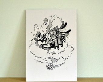 Get Your Head Out The Clouds Print