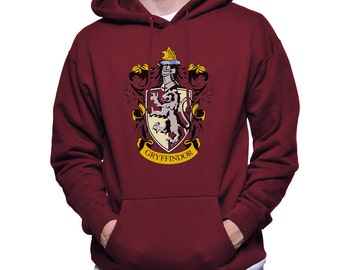 Gryffin Crest #1 printed on MAROON, White or Lightsteel Hoodie