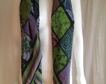 Silk scarf scarf MIDORI