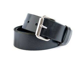 "Quality Crafted Genuine Mens Cow Leather Belt - 1.5"" Wide - Removable Buckle"