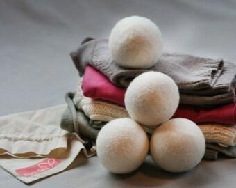 4 Pack Heart Felt Wool Dryer Balls
