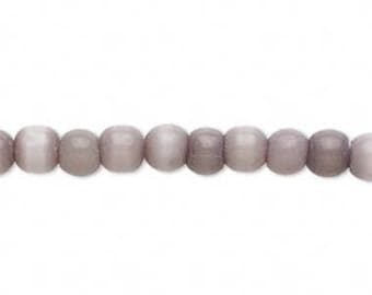 Jewelry & Craft Supplies Cat's Eye Lavender/Light Purple Bead 6mm matte-finished round 15-in strand wholesale beads bead supplies beads bulk