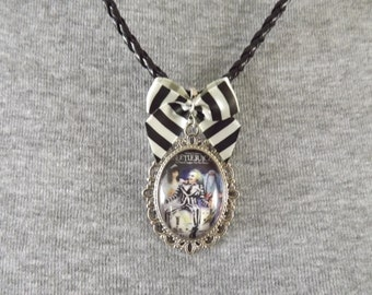 Beetlejuice Cameo Necklace
