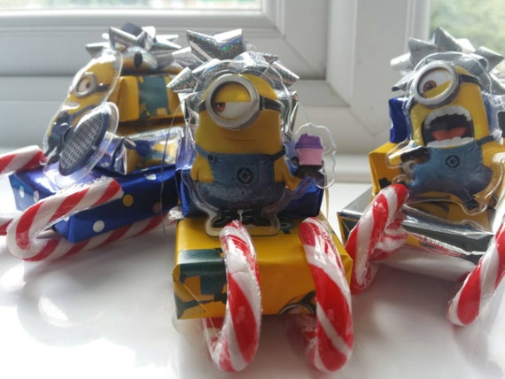 Minions Despicable me 2Themed christmas chocolate santa sleighs.party bag surprise. Stocking fillers buy 5 get 1 get one free