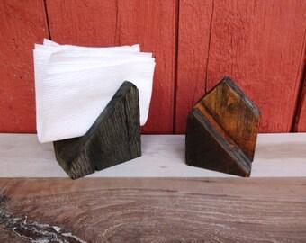 Reclaimed Oak Napkin Holder / Reclaimed Mail Holder / Reclaimed Wood / Handmade / Rustic / Barn wood / Napkin / Reclaimed Wood