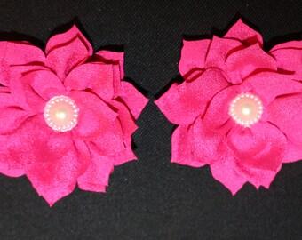 Pearl Lotus Barefoot Sandal Set (Hot Pink)