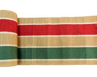 Linen Hand-Printed Fabric Roll, 10 Yds