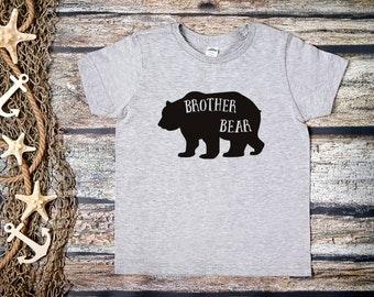 Brother Bear Kids Shirt;Kids Brother Bear Shirt;Big Brother Shirt;Kids Grey Brother Bear Tee;Big Brother Grey Shirt;Baby Brother Shirt