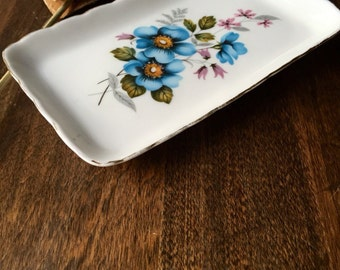 Vintage Delphine China Tray for Cream and Sugar - made in England