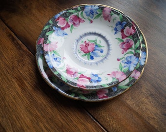 "Paragon by Appointment ""Sweet Pea"" Saucer, Bread and Butter Plate,"