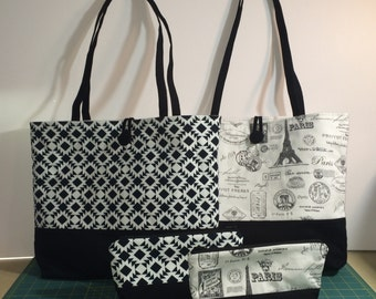 Tote Bag/ Handbag and Make Up Pouch Pattern
