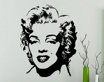 Marilyn Monroe Wall Sticker Music Vinyl Decal Home Interior Decoration Waterproof High Quality Mural (22mu)