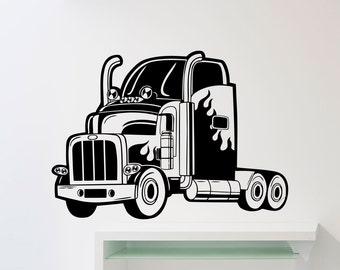Semi truck decal | Etsy