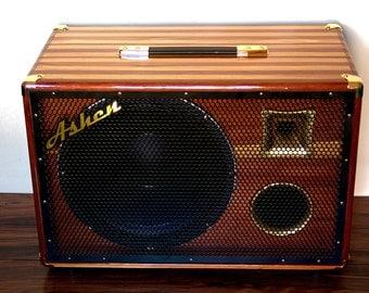 "Ashen Amps ""Woody Twin"" 1x12 Bass Cabinet w/Eminence Kappalite 3012LF & tweeter"