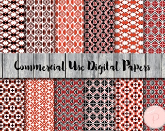 Folk Style Digital Paper, Bohemian Digital Papers, Tribal digital Papers, Commercial Use, Scrapbook Digital Papers, Digital Background, dp48