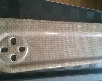 Flax fiber bath shelf; Free Shipping Worldwide