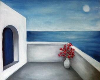 Santorini Greece Painting