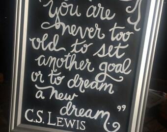 C.S. Lewis Chalkboard