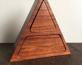 Vintage Triangle Jewelry Box