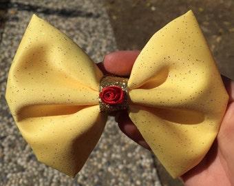 Belle Disney Inspired hair Bow
