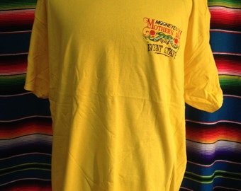 Rare Mooneyes Mothers days event staff t-shirt with Shige autograph.