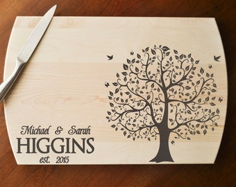 Personalized Cutting Board - Engraved Cutting Board, Custom Cutting Board, Wedding Gift, Housewarming Gift, Anniversary Gift, Christmas Gift