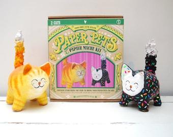 Cat Paper Pets Papier Mache Kit