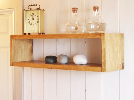 Simple Wooden Wall Shelves ~ Simple beautiful floating wood cube wall shelf