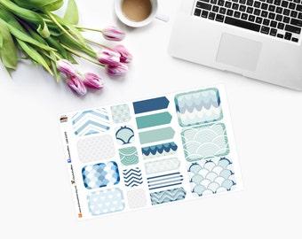 POSH MINI NAUTICAL Set, Planner Stickers - CAM00275