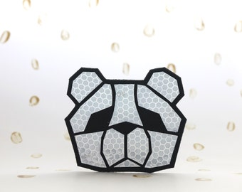 Safety reflector BEAR, Handmade in Finland