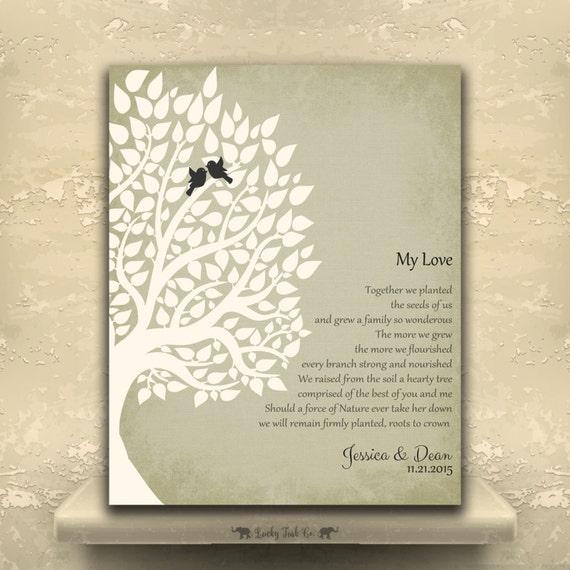 My Love Poem Custom Tin Sign Ten Year Anniversary Wedding Poem