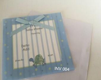 Invitation  Baby  Shower  Boy