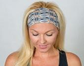 Yoga Headband Workout Headband Turban Headband Gray Yoga Headband Running Headband No Slip Headband Spandex Headband Wicking Headband