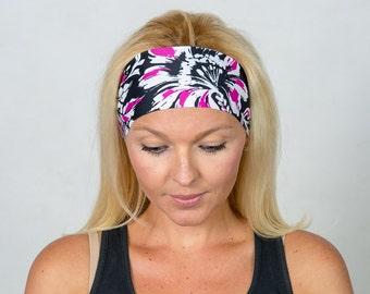 Yoga Headband Black Workout Headband Running Headband Fitness Headband  Wicking Headband Fashion Headband  Women Head Wrap Wide Headband