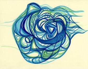 Raindrop - Original Abstract Art Print