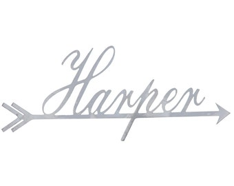 Metal Name Arrow - 18x5 Personalized Name, Home Decor, Nursery Decorations, Baby Room, Family Names, Custom Metal Decoration