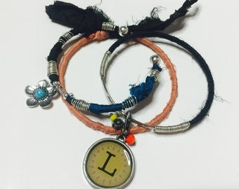 Fabric wrapped bangles